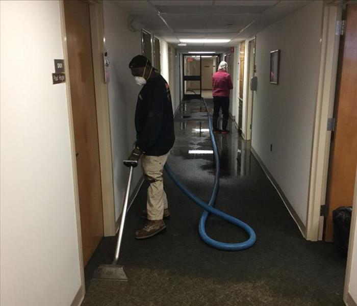 Water extraction in commercial building Before